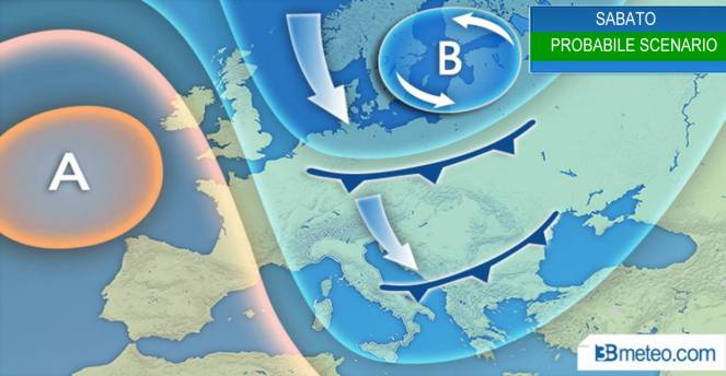 Previsioni Meteo: in arrivo temporali e brusco calo di temperatura