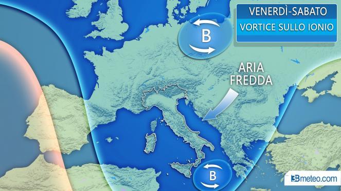 Meteo Italia: situazione attesa tra venerdì e sabato