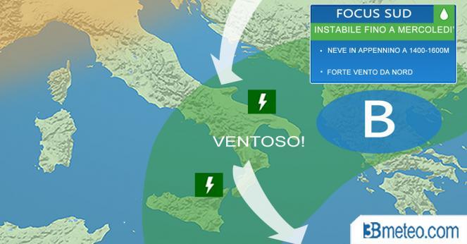 Meteo Italia: Sud ancora inglobata in una circolazione instabile