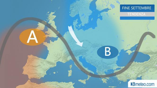 meteo italia: tendenza fine settembre
