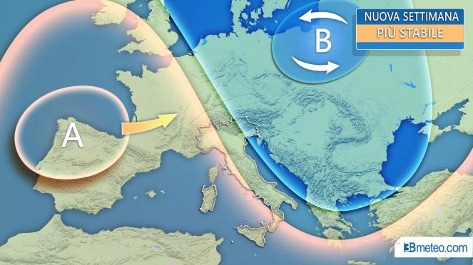 Meteo Italia: tendenza nuova settimana