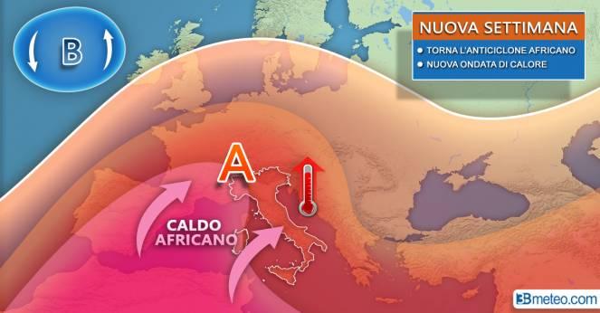 Meteo Italia- torna l'anticiclone africano