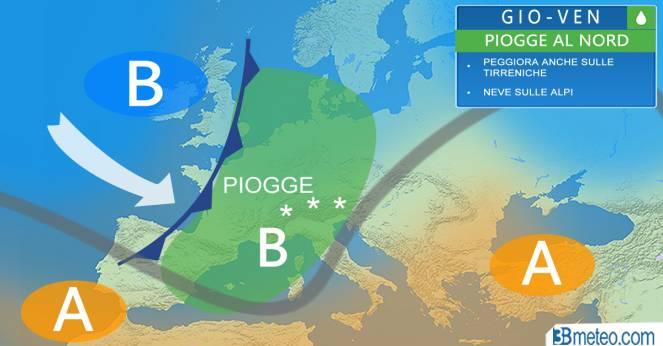 Meteo EUROPA: pioggia, nubifragi e NEVE, si apre la porta atlantica!
