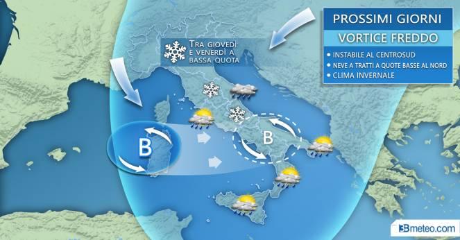 Previsioni meteo per mercoledì 21 febbraio