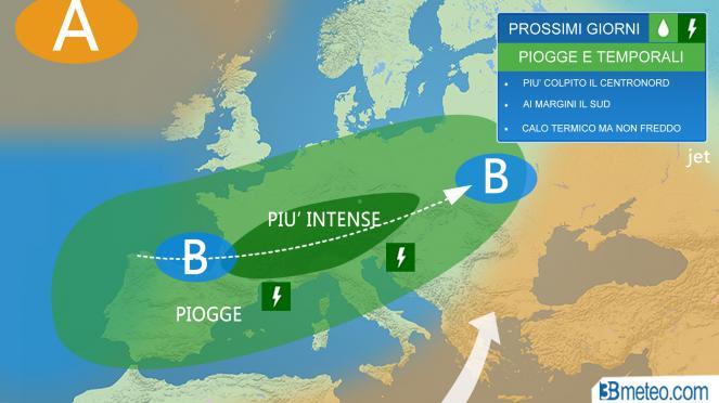 Meteo Italia: vortice ciclonico in arrivo