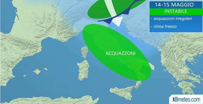 meteo italia week-end