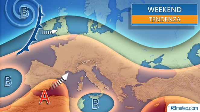 meteo italia weekend