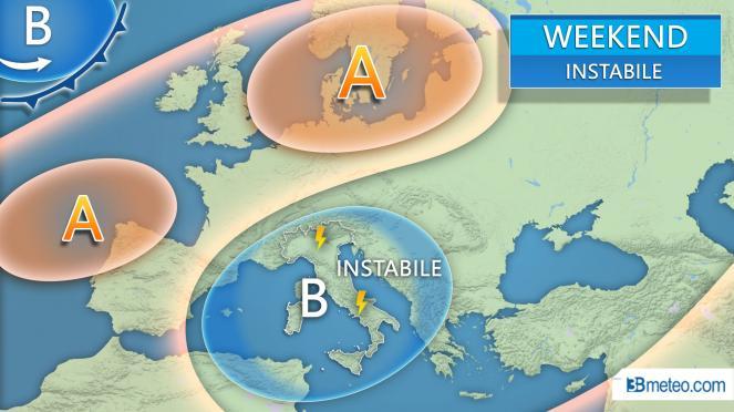 Meteo Italia: weekend ancora instabile