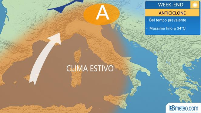 Meteo italia weekend, sole e clima estivo