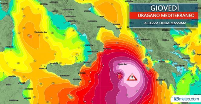 Meteo: l altezza delle onde massimo attesa per le prossime ore, fino a 9 metri al largo dello Ionio!