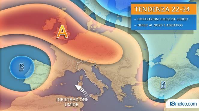 Meteo : l'inverno si blocca di nuovo a causa dell'alta pressione