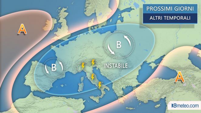 Meteo: la situazione attesa in Italia ed Europa nei prossimi giorni