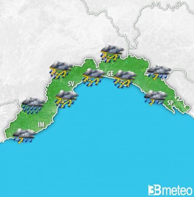 Allerta meteo in Liguria diventa arancione domenica 11 marzo