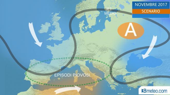 meteo Novembre 2017: scenario