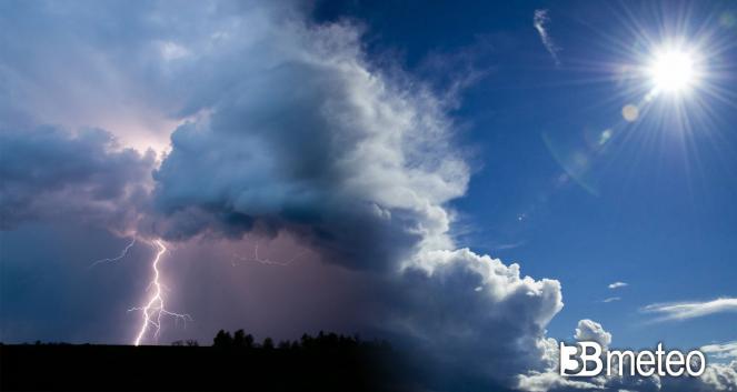 Meteo nuova settimana ancora spiccatamente instabile con schiarite e temporali