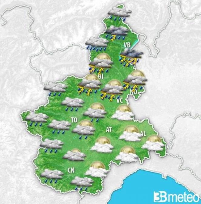 Meteo Piemonte, forti temporali nei prossimi giorni