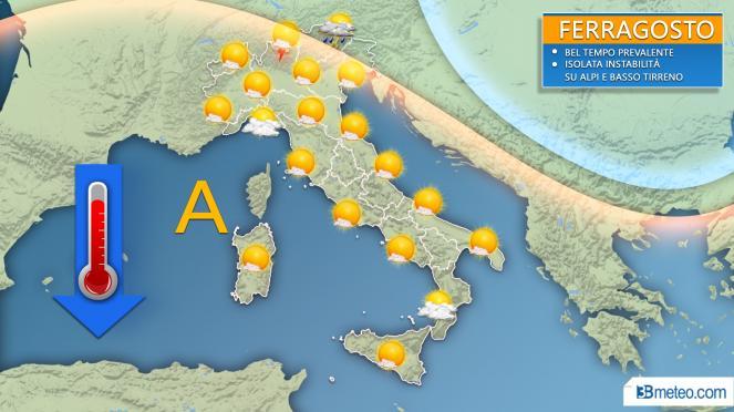 Meteo, previsioni per FERRAGOSTO