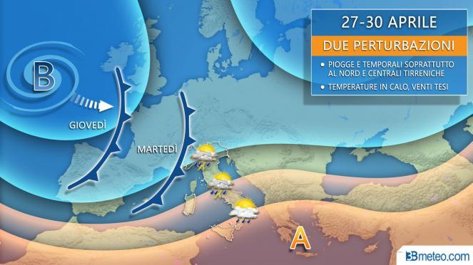 Allerta gialla per temporali in Emilia-Romagna