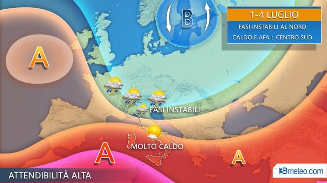 Dal caldo all'allerta meteo: piogge e temporali, l'allarme della Protezione Civile