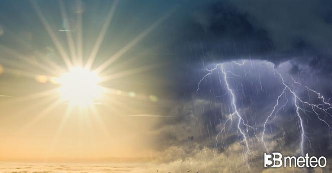 Meteo prossime 48 ore tra sole e temporali