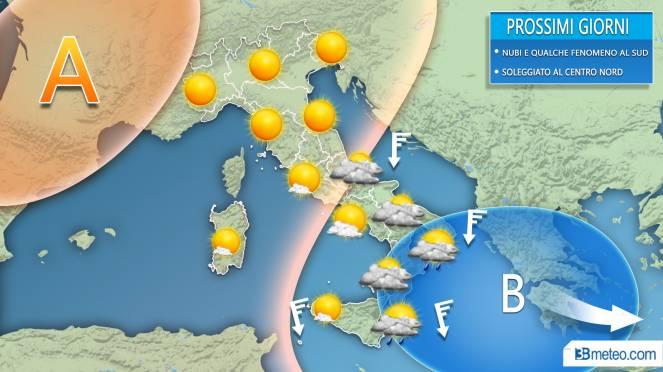 Meteo prossimi giorni sull'Italia