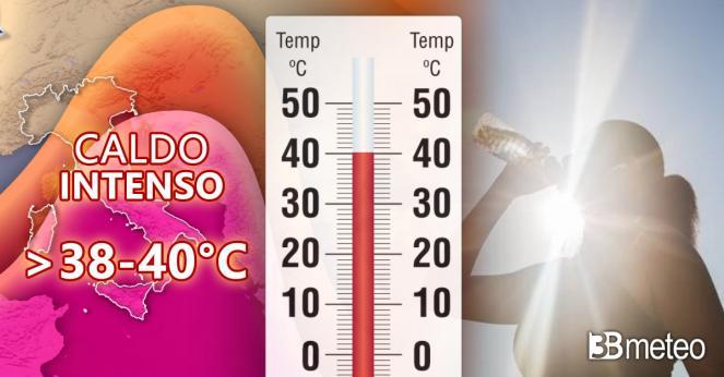 Meteo, sarà una settimana rovente con caldo e afa da Nord a Sud, attesi picchi superiori ai 40°C di temperatura