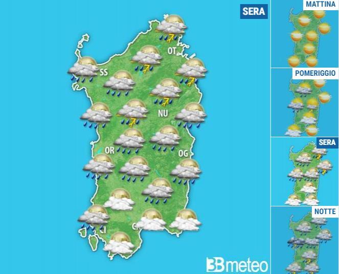 METEO SARDEGNA: tornano nuvole, piogge e qualche temporale nel WEEKEND