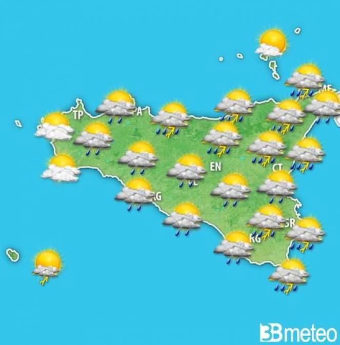Meteo Sicilia: le previsioni per martedì pomeriggio
