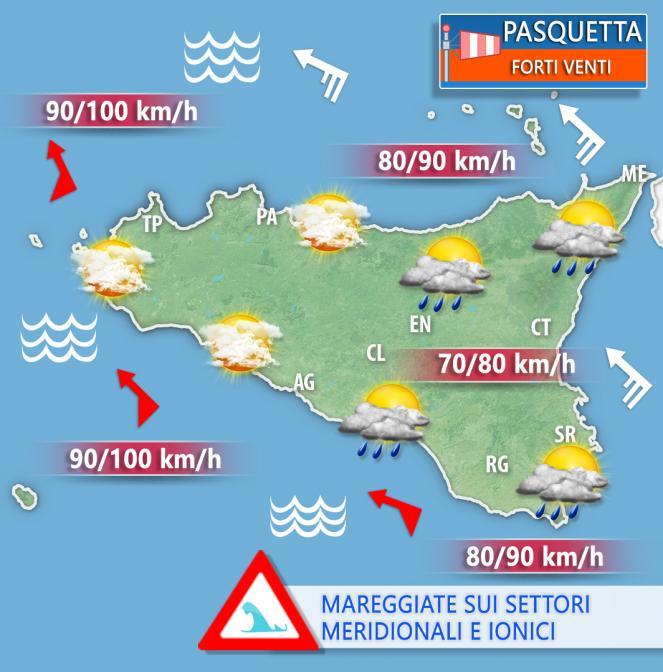 METEO SICILIA - Le previsioni per Pasquetta