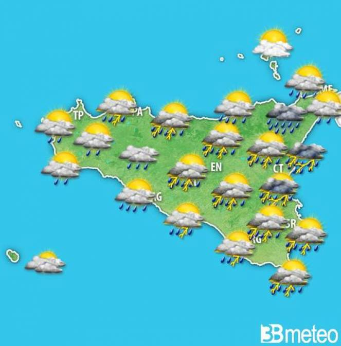 Meteo sicilia maltempo venerdì con temporali e nubifragi