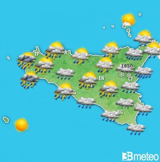 Meteo Sicilia, previsioni per la fascia pomeridiana