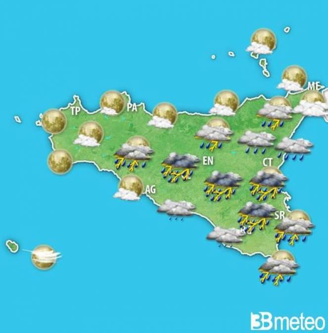Meteo Sicilia: previsioni per la serata di venerdì