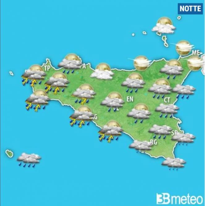 meteo sicilia, torna il maltempo