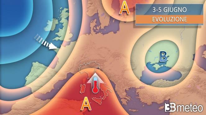 Meteo sinottica Italia ed Europa nei prossimi giorni