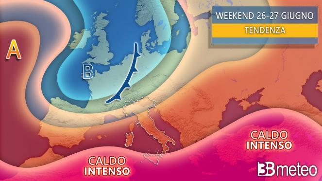 Meteo sinottica weekend Italia-Europa