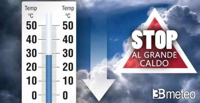 Meteo, stop al grande caldo, ecco quando e con che temperature