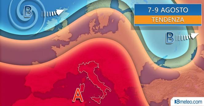 METEO - Tendenza FERRAGOSTO: torna l'alta pressione