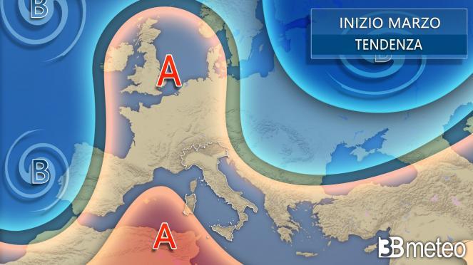 Meteo tendenza Italia inizio marzo