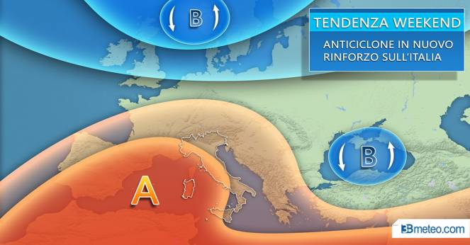 Meteo tendenza per il weekend