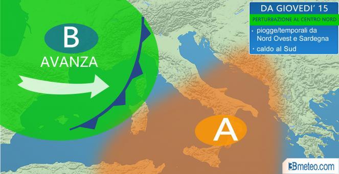 meteo, torna la pioggia al Nord e Tirreniche dal 15 settembre