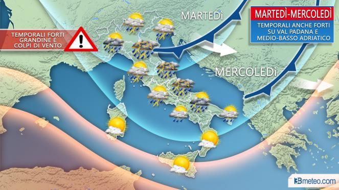Meteo Roma, in arrivo freddo, nubifragi e grandinate. Allerta nelle prossime ore