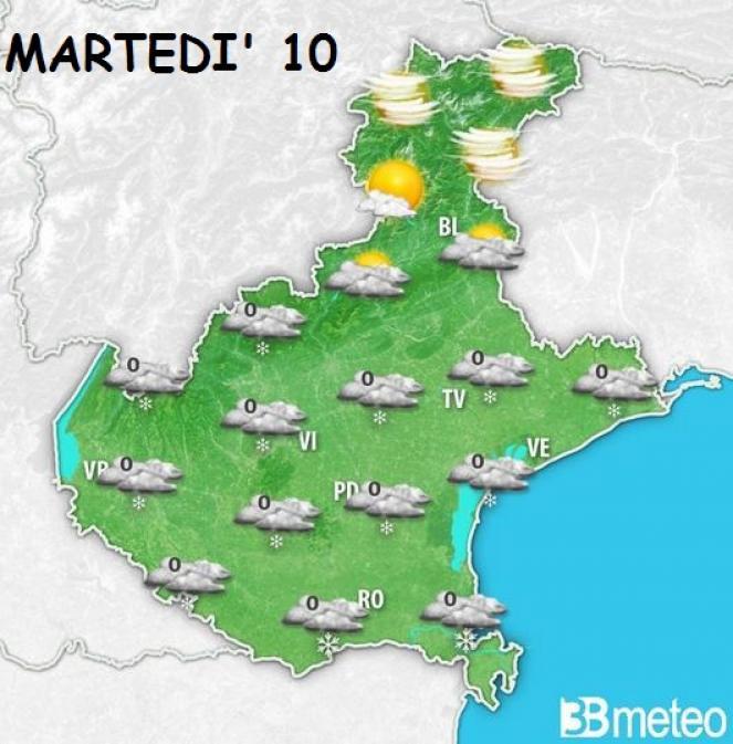 Meteo Veneto neve