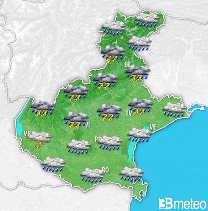 Meteo Veneto: previsione per lunedì mattina