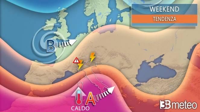 Meteo weekend. Anticiclone africano sull'Italia ma temporali in transito su parte del Nord