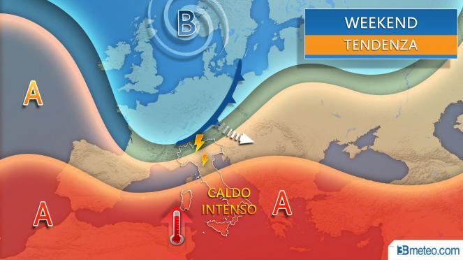 Meteo weekend 11-12 luglio, rischio temporali al Nord