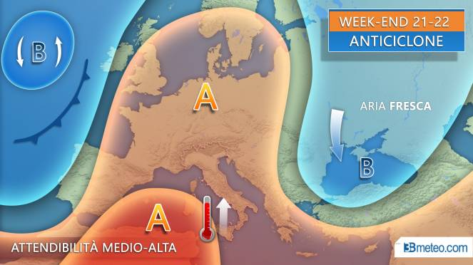 Meteo weekend 21-22 settembre
