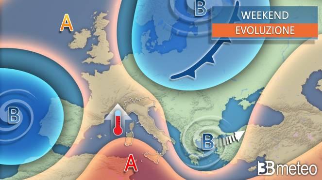 Meteo weekend 25 aprile. Anticiclone in rinforzo sull'Italia e temperature in ripresa