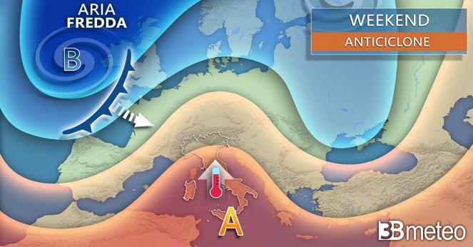 Meteo weekend, Anticiclone in rinforzo anche sull'Italia