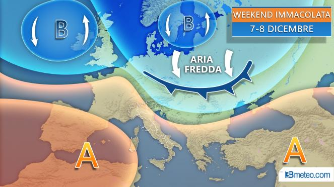 meteo weekend dell'Immacolata