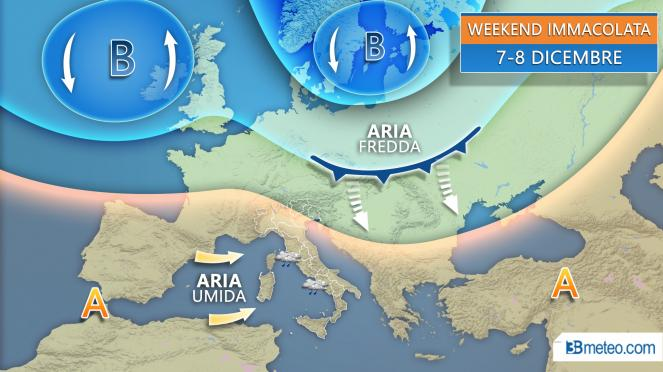 Meteo weekend Immacolata